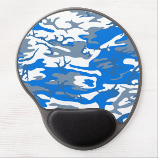 Ice Water Blue Camo Gel Mouse Pad