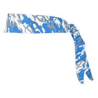 Ice Water Blue Camo Head Wrap Tie Headband