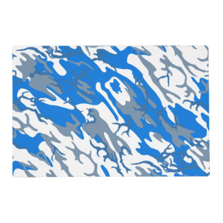 Ice Water Blue Camo Placemat