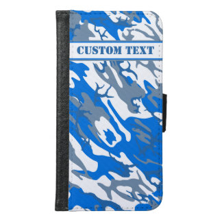 Ice Water Blue Camo Smartphone Wallet w/ Text