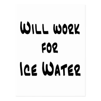 Ice Water Post Card
