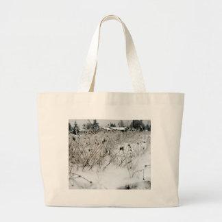 Ice Weeds Large Tote Bag