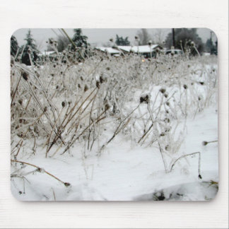 Ice Weeds Mouse Pad