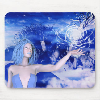 Ice Witch Human Female Mage RPG Mousepad