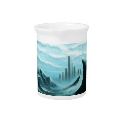 ice world fantasy/scifi landscape pitcher