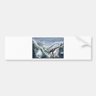Ice Zombie Raptor Bumper Sticker