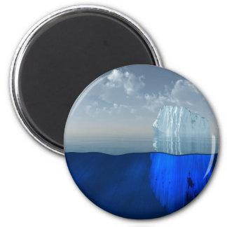 Iceberg 2 Inch Round Magnet