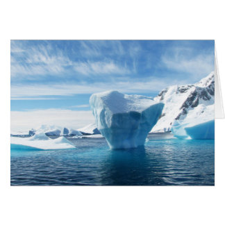 Iceberg Antarctica nature scenery Card