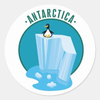 Iceberg antártico pegatina redonda