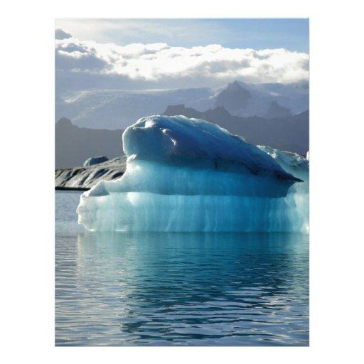 Iceberg azul membrete