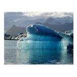 Iceberg azul postal