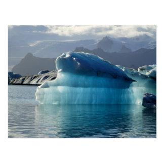 Iceberg azul tarjeta postal