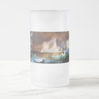 Iceberg by Frederick Edwin Church Frosted Glass Beer Mug
