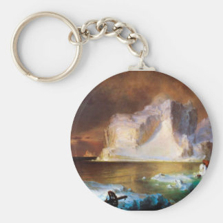 Iceberg by Frederick Edwin Church Keychain