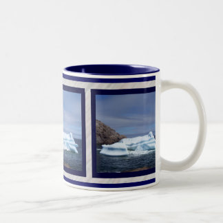 Iceberg Collage Two-Tone Coffee Mug