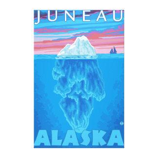 Iceberg Cross-Section - Juneau, Alaska Canvas Prints