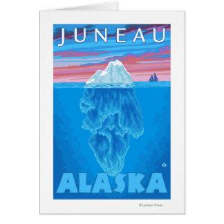 Iceberg Cross-Section - Juneau, Alaska Card