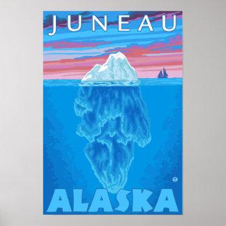 Iceberg Cross-Section - Juneau, Alaska Posters