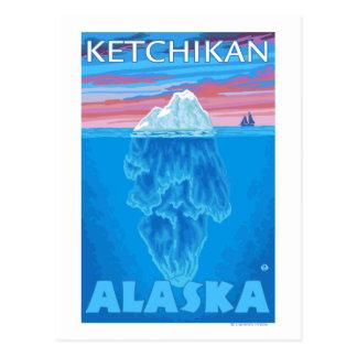 Iceberg Cross-Section - Ketchikan, Alaska Postcard