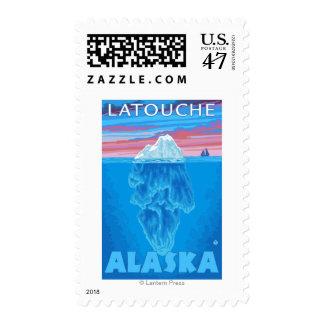 Iceberg Cross-Section - Latouche, Alaska Postage Stamp