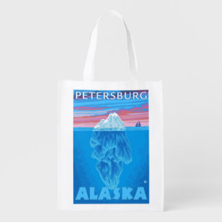 Iceberg Cross-Section - Petersburg, Alaska Grocery Bag