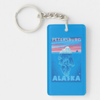 Iceberg Cross-Section - Petersburg, Alaska Keychain