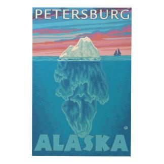 Iceberg Cross-Section - Petersburg, Alaska Wood Print