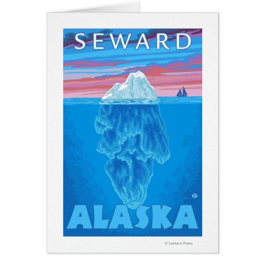 Iceberg Cross-Section - Seward, Alaska Card