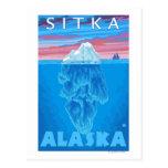 Iceberg Cross-Section - Sitka, Alaska Post Card