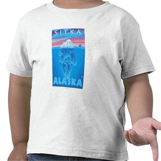 Iceberg Cross-Section - Sitka, Alaska T-shirts