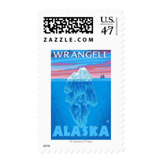 Iceberg Cross-Section - Wrangell, Alaska Postage Stamp