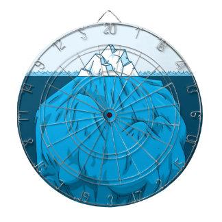 Iceberg del dibujo animado debajo del agua tabla dardos