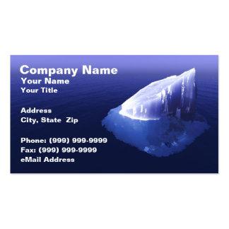 Iceberg en agua azul clara tarjetas de visita
