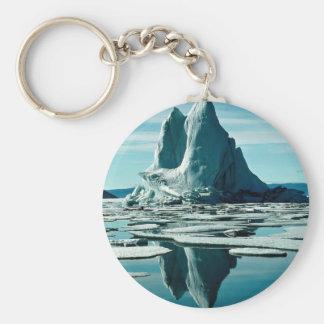 Iceberg, estación meteorológica del Fiord de Slidr Llavero Redondo Tipo Pin
