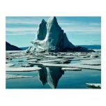 Iceberg, estación meteorológica del Fiord de Slidr Tarjetas Postales