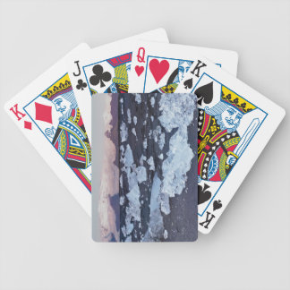 Iceberg formation on the beach bicycle playing cards