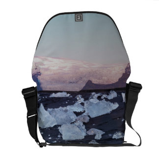 Iceberg formation on the beach courier bag