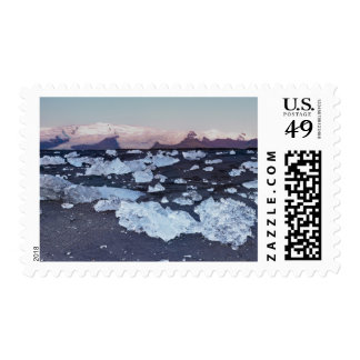 Iceberg formation on the beach postage