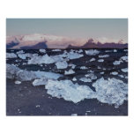 Iceberg formation on the beach poster