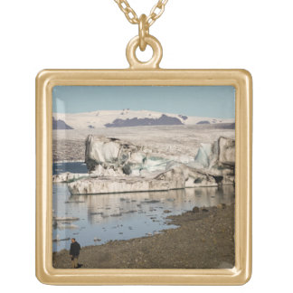 Iceberg formations 2 square pendant necklace