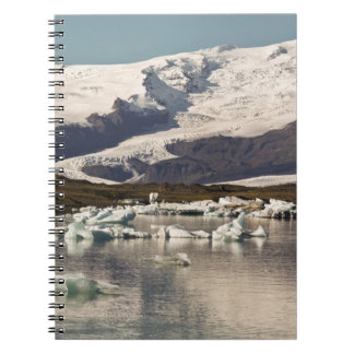 Iceberg formations 3 spiral note book