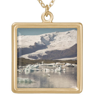 Iceberg formations 3 square pendant necklace