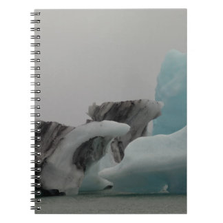 Iceberg formations spiral note book