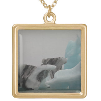 Iceberg formations square pendant necklace