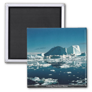 Iceberg, Greenland Winter 2 Inch Square Magnet