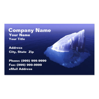 Iceberg in Clear Blue Water Double-Sided Standard Business Cards (Pack Of 100)