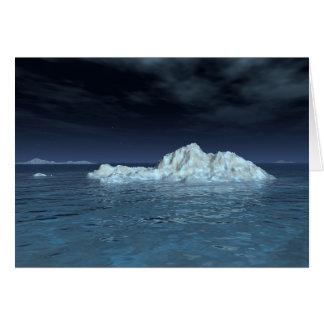 """""""Iceberg In Moonlight"""" Card"""