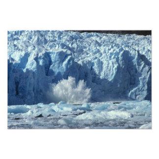 iceberg Nuevo-parido que salpica en frío Fotografia