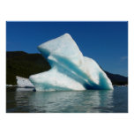 Iceberg on Mendenhall Lake in Alaska Poster