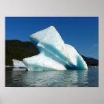 Iceberg on Mendenhall Lake in Alaska Poster